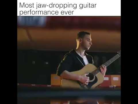 When you need drums but only have a guitar.