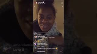 Ari Lennox shares new music on Instagram LIVE!/ Having fun with Fans