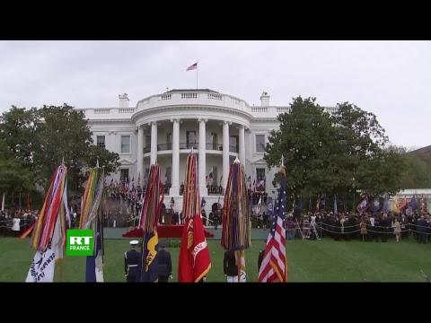 Cérémonie d'accueil du président français Emmanuel Macron à la Maison Blanche