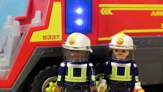 Wóz strażacki - Playmobil - pojazd dla strażaka - Sam ugasi pożar