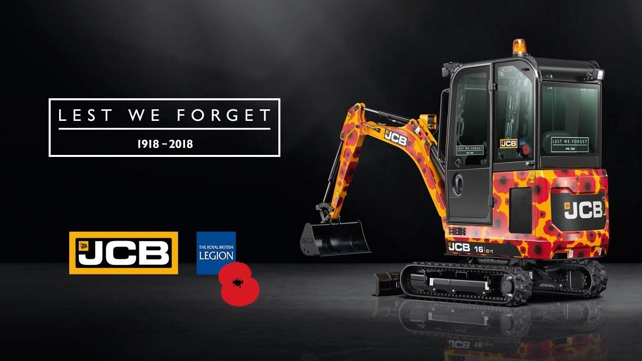 JCB Poppy Appeal 2018 - 16C-1 Mini Excavator