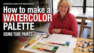 Make a watercolor palette using tube paints