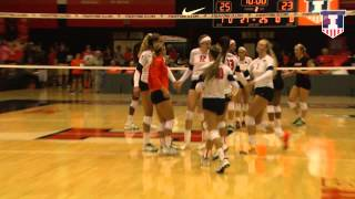 Illinois Volleyball vs Louisville Highlights 8/26/15