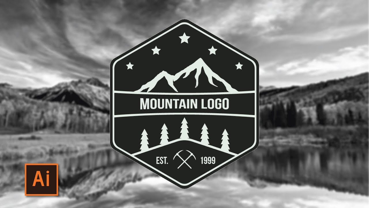 Illustrator Tutorial Mountain Adventure Logo How To