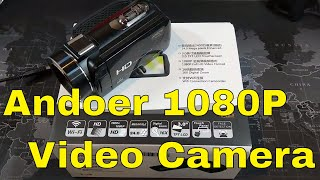 andoer 1080P Video Camera w/ Wide Angle and Macro Lens