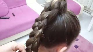 Easy Girl Hair Braid.Kolay 4lü saç örgüsü.