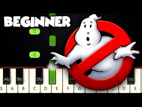 Ghostbusters! Theme Song   BEGINNER PIANO TUTORIAL + SHEET MUSIC by Betacustic