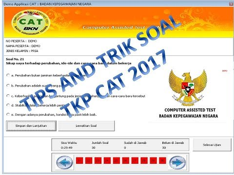 TIPS AND TRIK SOAL TKP CAT 2017