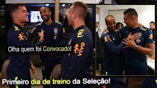 Primeiro dia de treino da Seleção Brasileira! Lucas Moura se apresenta junto com os demais