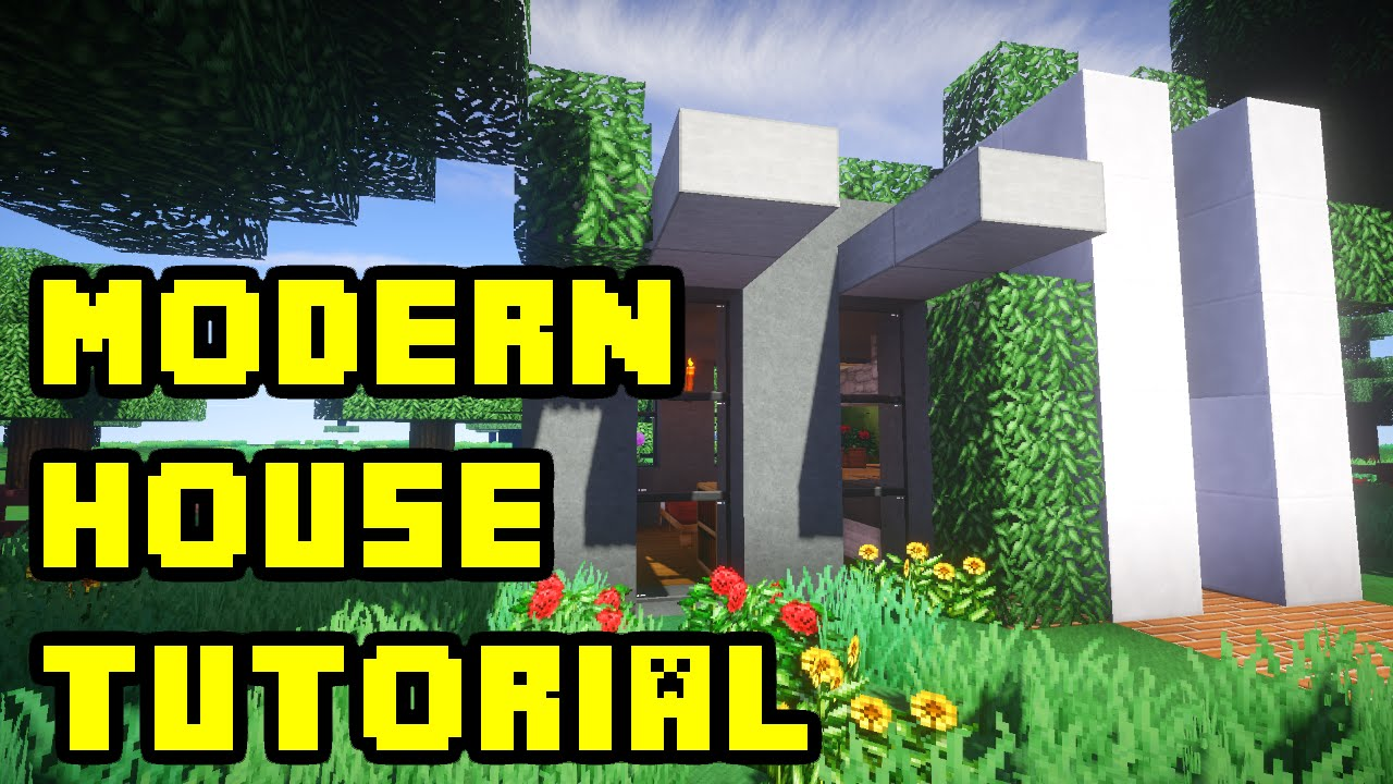 Minecraft modern house build tutorial xbox pc pe ps3 for Modern house xbox minecraft