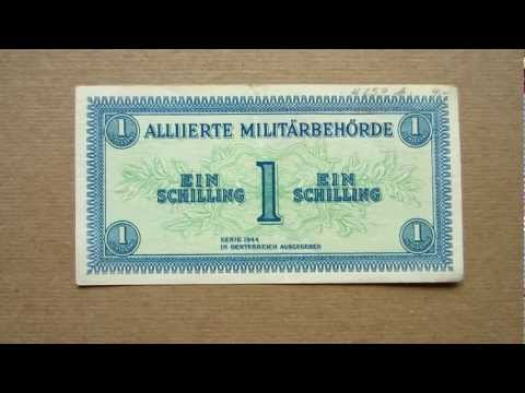 1 Austrian Schilling Banknote (One Austrian Schilling / 1944), Obverse & Reverse