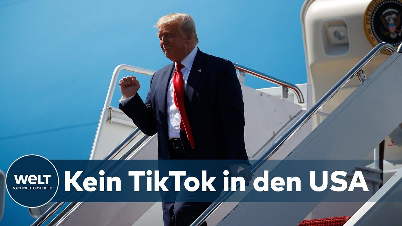 """TRUMP DISST TIKTOK: """"Was TikTok betrifft, so verbannen wir sie aus den Vereinigten Staaten"""""""