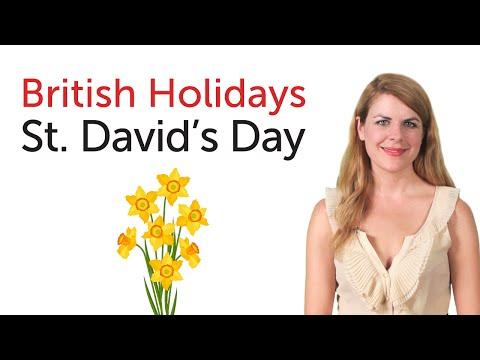 British English Holidays - St. David's Day