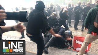 Manifestation fonction publique. Violents débordements / Paris - France 22 mai 2018