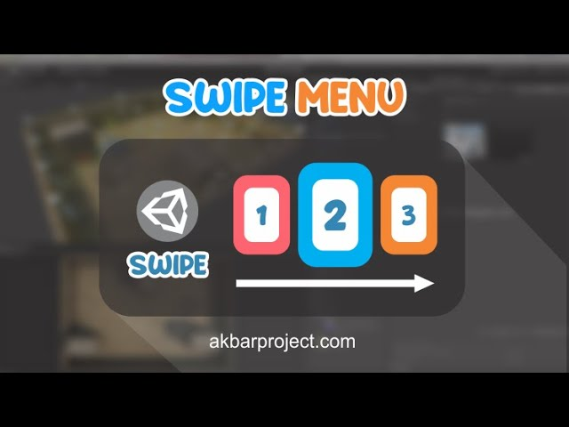 Swipe Control with Touch for Menu Level | Unity3D