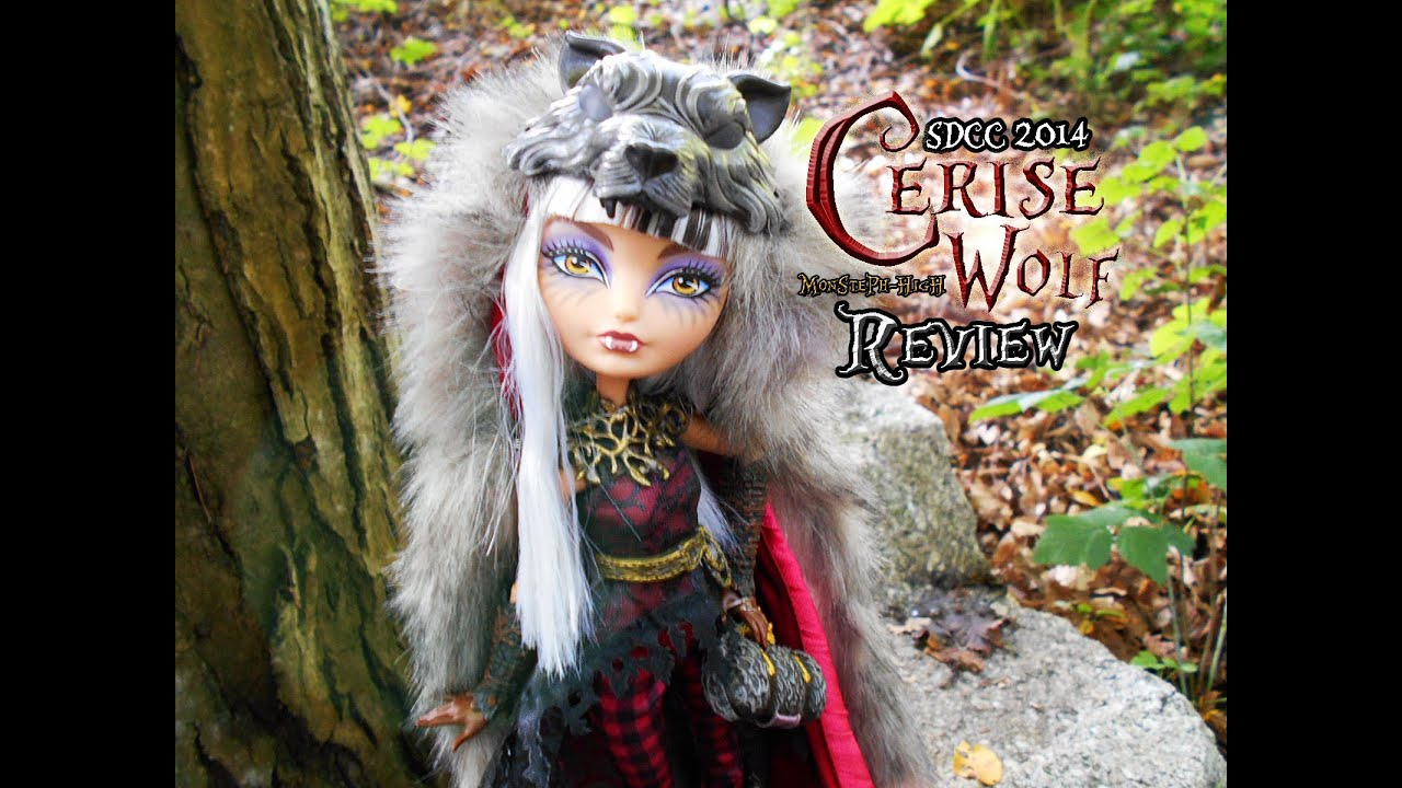 EVER AFTER HIGH,CERISE WOLF SDCC, REVIEW! - YouTube