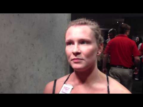 Bridget Sloan after her elbow injury - 2012 Olympic Trials