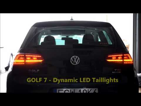 vw golf mk 7 dynamic led tail lights dynamischer. Black Bedroom Furniture Sets. Home Design Ideas