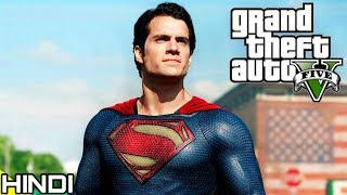 "SUPERMAN with ""POWERS"" in GTA V | KrazY Gamer |"