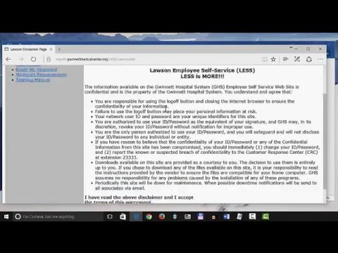 Access Lawson with Windows 10 and Internet Explorer by Chris Menard
