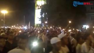 'Indonesia Raya' Bergema Saat Pawai Obor Sambut Ramadan di Pontianak
