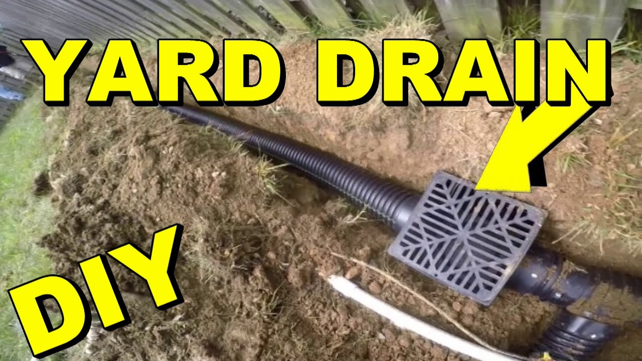 Yard Drain, French Drain, Do It Yourself Project   YouTube