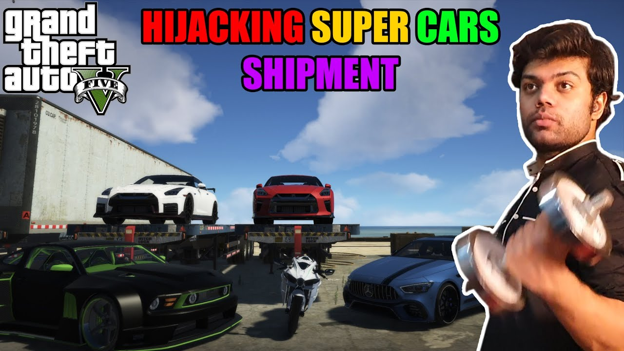 Hijacking Brand New Super Cars Shipment | GTA 5 GAMEPLAY #19