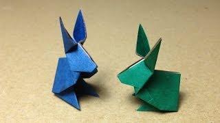 【折り紙(おりがみ)】 動物 うさぎの折り方 作り方 thumbnail