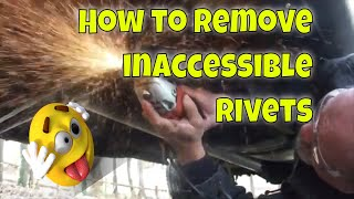 How to Remove Trขck Rivets from Hard to Reach Places on a Truck Frame