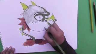 Como Dibujar a Boca de dragón (Plantas vs Zombies 2) - As Draw Snapdragon