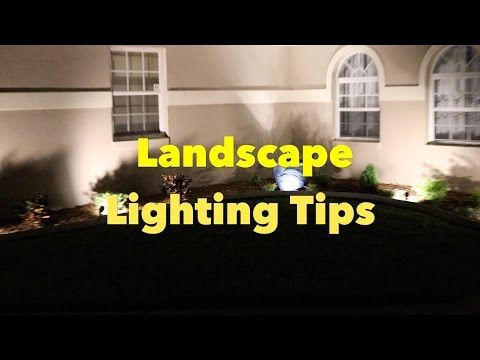 LED Landscape Lighting Tips - see the results!