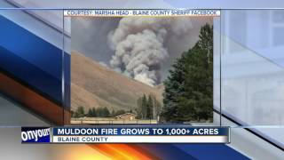 Muldoon Fire burning in Blaine County grows to 2,800 acres