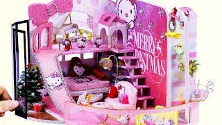 DIY Miniature Dollhouse ~ Hello Kitty Room Decor ~ 10 Minute DIY Doll Crafts