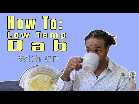 How to take a low temp dab