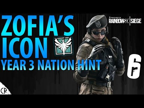 Zofia's Icon & Year 3 Country Hint - White Noise - Tom Clancy's Rainbow Six - R6