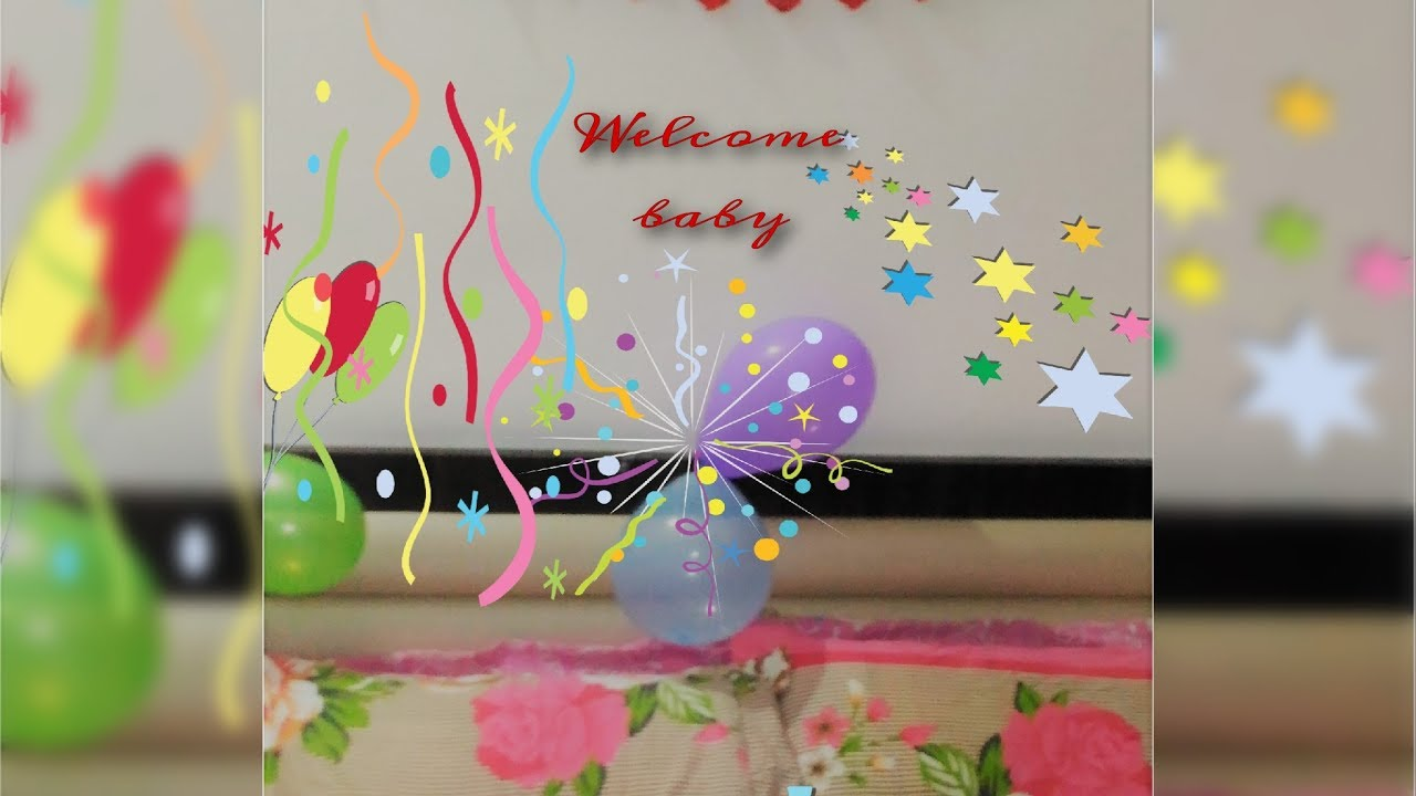 diy how to make baby banner home welcome party banner