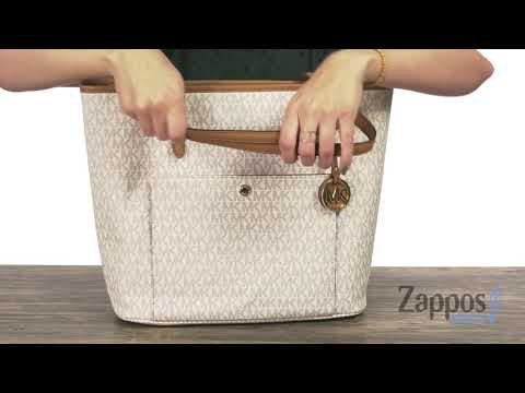 c3230cadc29a MICHAEL Michael Kors Jet Set Item Medium Top Zip Snap Pocket Tote ...
