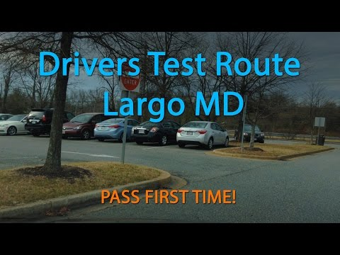 Maryland MVA Driving Test Route (Largo)