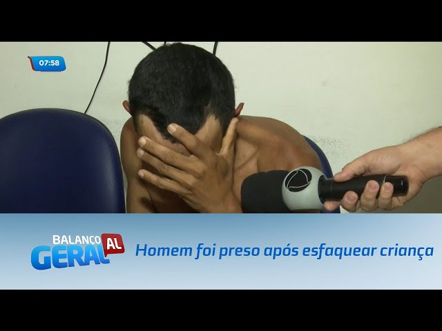 Homem foi preso após esfaquear criança de oito anos de idade