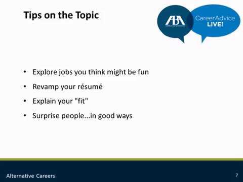 Career Advice Series: Alternative Careers: One Degree, Plenty of Latitude