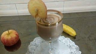 Apple Banana Smoothie | Healthy Breakfast Recipes | How to make apple babana juice | Shamima Akter
