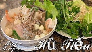 Hủ Tiếu Dai hương vị thơm ngon có 1 0 2 - Pork and shrimps clear noodle soup - Taylor Recipes