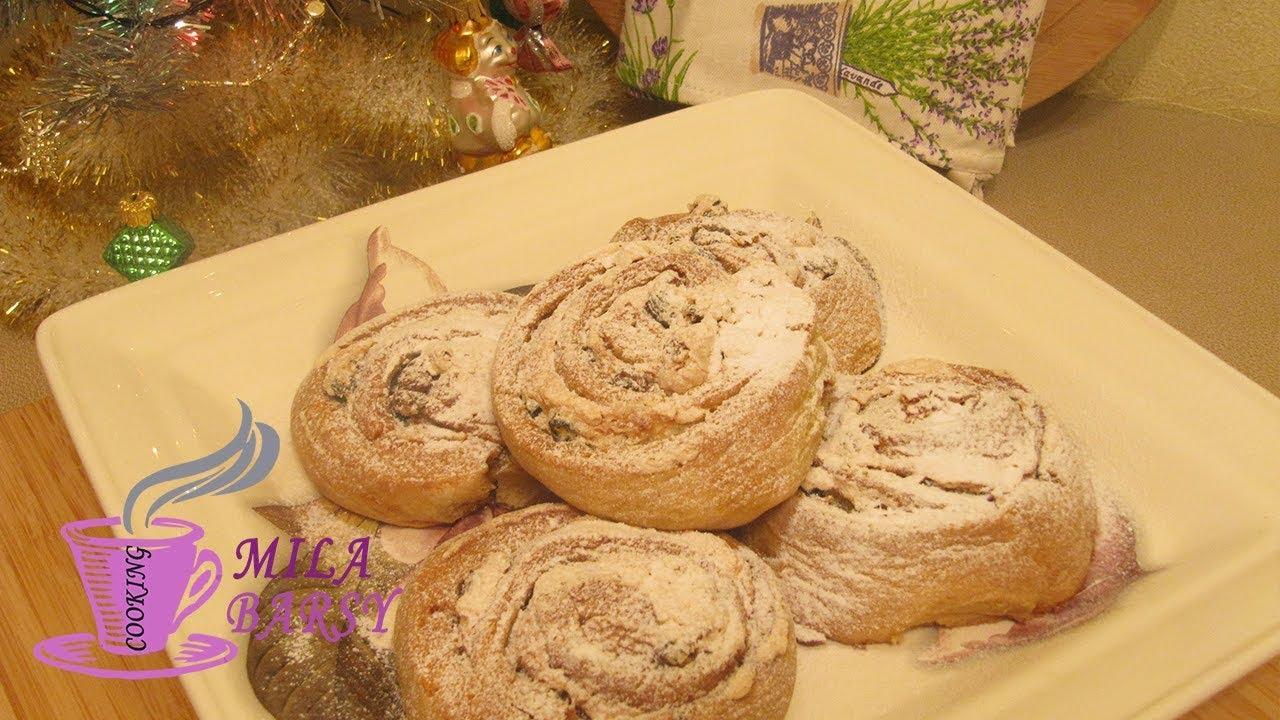 печенье улитки из творога очень простой рецепт