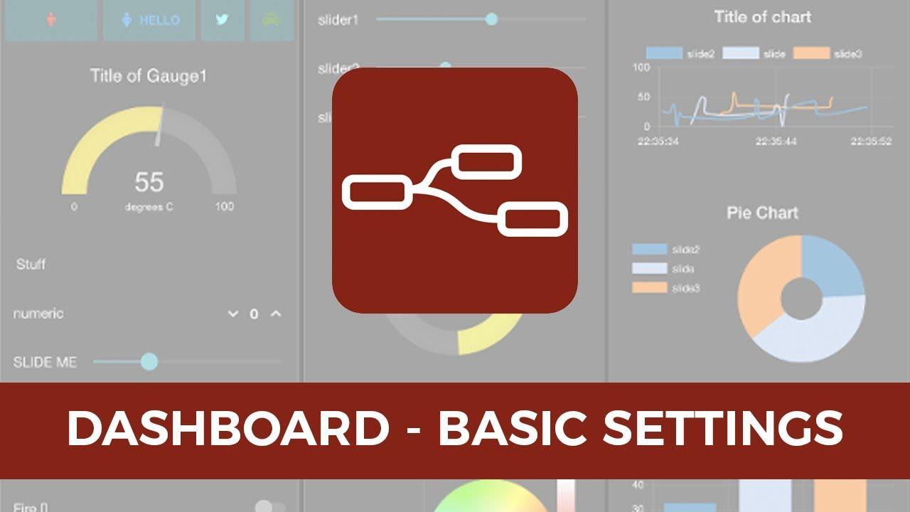 Node Red | Dashboard | Basic Setup