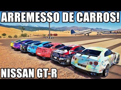 O MELHOR ARREMESSO DE CARROS - NISSAN GT-R É MUITO BRUTO - FORZA HORIZON 3 - GAMEPLAY