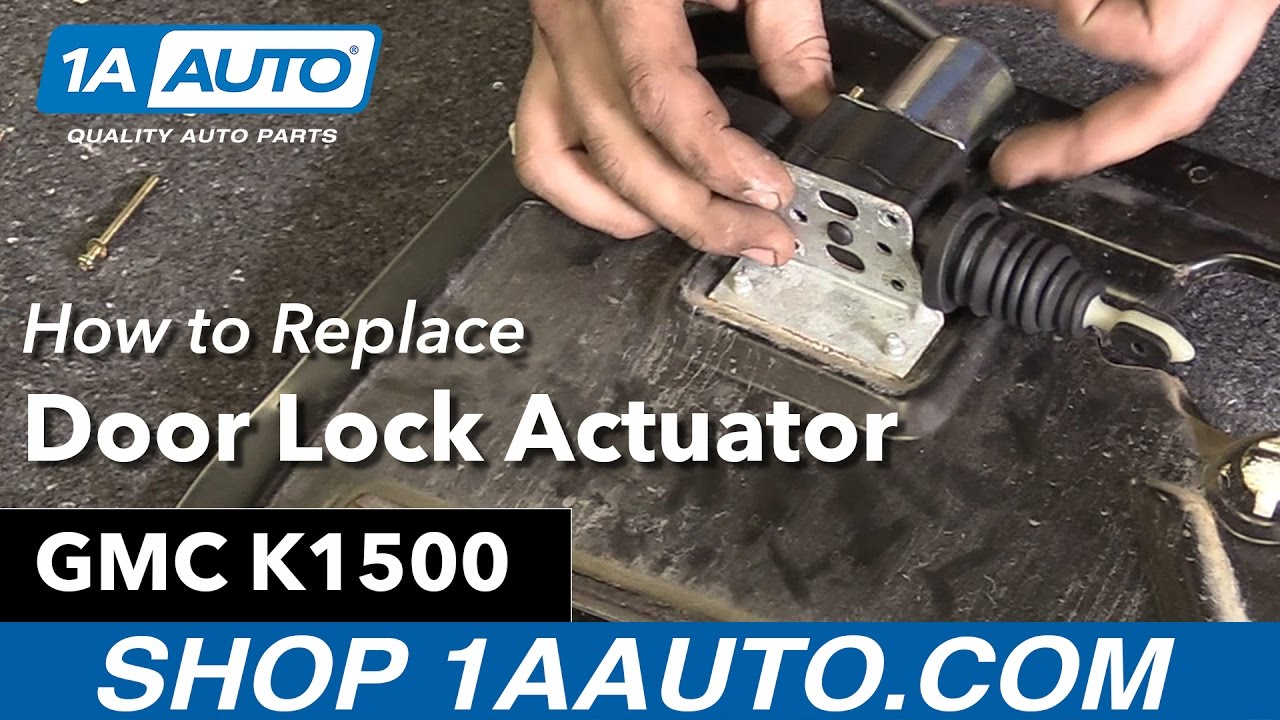 How To Replace Door Lock Actuator 88 00 Gmc K1500 Youtube