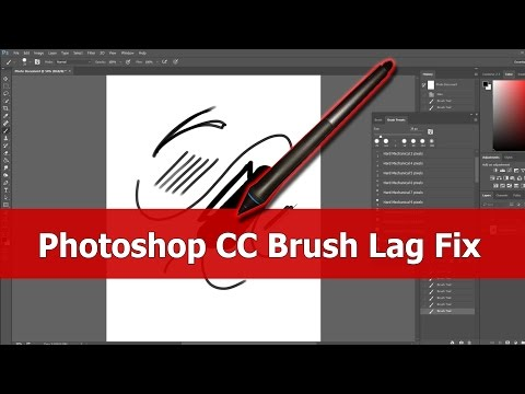 Photoshop CC Brush Lag Fix