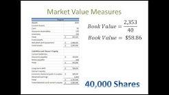 Financial Statement Analysis #6: Ratio Analysis - Market Value Measures