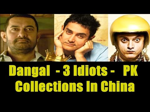 3 Idiots, PK And Dangal Collections In China