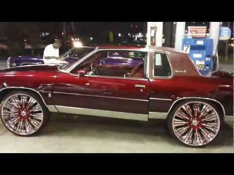 "CANDY RED CUTLASS ON 26"" ASANTI RIMS!!! WETT!! WETT!!!"